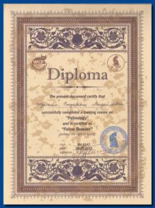 Сертификат фелинолога